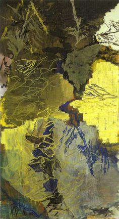 Per Kirkeby (Danish, b. 1938), Overgang II, 1996. Oil on canvas, 200 x 110 cm.