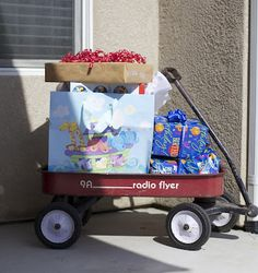 I cannot wait to incorporate her red wagon as a decoration somehow!