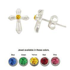 www.bodyjewelry.com #studs #studearrings #bodyjewelry #piercings #earrings #cross
