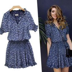 summer dress patterns for women | 2016 Fashion Plus Size Womens Summer Casual Dress Sexy Floral Pattern ...