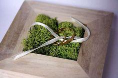 Porte alliances bois moderne 10 cm mariage moderne, mariage naturel, mariage champêtre par AurorasPrettyWedding
