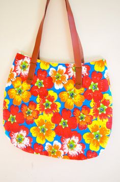 Brazilian Chita Flower  Handmade Bag by lillah on Etsy, $30.00