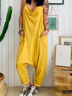 The sexy leisure loose sling cotton and hemp jumpsuits is a good choice of fashion in summer, and it suits many casual summer occasions. jumpsuit casual,jumpsuit outfit work,how to wear jumpsuit,casual jumpsuit outfit fall Romper Long Pants, Sleeveless Jumper, Jumpsuit Outfit, Casual Jumpsuit, Maternity Jumpsuit, Summer Jumpsuit, Pant Jumpsuit, Type Of Pants, Jumpsuit With Sleeves