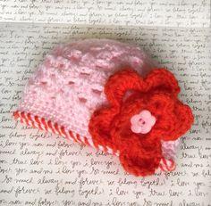 Crochet Baby Hat New Born Girl Hat Baby Girl by LovesGypsyMarket
