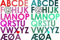 Herligheder*: alfabet igen igen // diy print