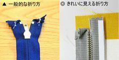 ミシンのプロが教えます。ファスナーをきれいに付ける3つのコツ(1)折り方