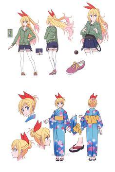 Costume Designs do seriado japonês Nisekoi | THECAB - The Concept Art Blog