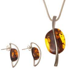 Ezüst medál és fülbevaló szett borostyán kővel /67840/ Drop Earrings, Jewelry, Jewlery, Jewerly, Schmuck, Drop Earring, Jewels, Jewelery, Fine Jewelry