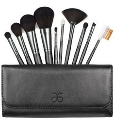 """Make Up Tip -- """"The 411 on Concealer Brushes""""    Use a flat, oval shaped brush (smaller than a foundation brush) to apply concealer. It allows you to blend just the right amount of make up over dark spots and blemishes and can even be used to conceal tattoos.    Check out the Arbonne brush set for a 10 Piece set in a practical case for a bargain $40!!"""