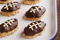 These crispy treats would be a hit with the home team just for their flavor. But you'll get props on game day for shaping them like footballs.