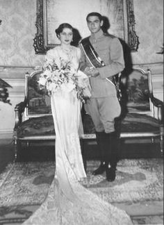 princess Fawzia and the Shah of Iran wedding