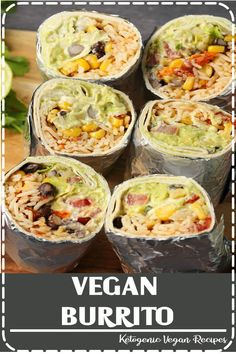A vegan burrito recipe that is super filling, hearty, flavorful and every kind o. - A vegan burrito recipe that is super filling, hearty, flavorful and every kind of delicious! High Protein Vegetarian Recipes, Vegetarian Meal Prep, Healthy Recipes, Vegan Vegetarian, Vegan Recipes For Beginners, Healthy Protein, Vegetarian Italian, Healthy Food, Low Fat Vegan Recipes