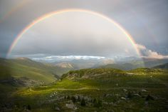 Rainbow on the alps - From Croix de Fer Pass in the French Alps. We can see mountains of Savoie ans the three « aiguilles d'Arves ». It the first time, I can shot a complete rainbow with a excellent background and nice light conditions.
