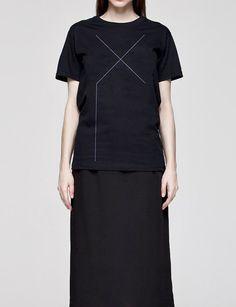 Unisex black or white graphic t-shirt minimalistic X simplicity men women graphic top shirt black or white simple tee urban t-shirt graphic