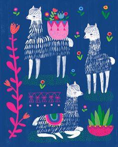 Felizes Alpacas por Sarah Walsh