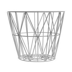 Storage Basket . Wire - Grey