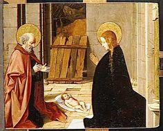 Josse Lieferinxe, Polyptyque de la Vierge : l'adoration de l'enfant (Avinhon, 1493-1505, Musée du Louvre, Paris)