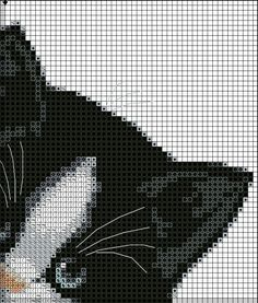 The cat grid for Angéline - FOTOVISION - The world around us . Cat Cross Stitches, Cross Stitch Borders, Cross Stitch Alphabet, Cross Stitch Animals, Cross Stitch Kits, Cross Stitch Charts, Cross Stitch Designs, Cross Stitching, Cross Stitch Embroidery