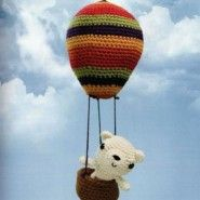 Bear and his Mobil Airplane  Amigurumi - Free Russian Pattern