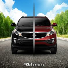 Which do you choose, Black Cherry or Signal Red? #KiaSportage