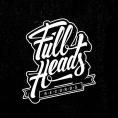 Full Heads Records by Francesco Paura Curci, via Behance