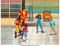 X-Men Wolverine Production Cel and Master Background (Marvel, c. Wolverine (and some of the other - Available at Sunday Internet Comics Auction. Marvel Cartoons, Wolverine, X Men, Auction, Animation, Animation Movies, Motion Design