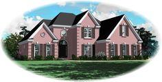 House Plan 47004 - Traditional Style House Plan with 1944 Sq Ft, 3 Bed, 3 Bath, 2 Car Garage European Plan, European House Plans, Best House Plans, Dream House Plans, European Style, Cottage Style Homes, Cottage House Plans, Small Dream Homes, Camden House