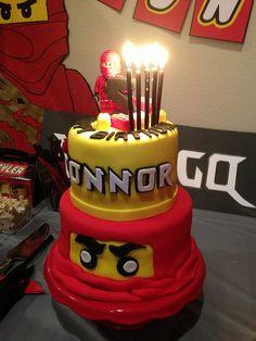 Lego Ninjago Party by BrickDancer Army Birthday Parties, 5th Birthday Party Ideas, Lego Birthday Party, 7th Birthday, Birthday Cakes, Ninjago Cakes, Ninjago Party, Lego Ninjago, Cakepops