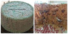 Bolo de nozes com recheio de brigadeiro branco com ameixa, cobertura em chantilly para aniversário masculino
