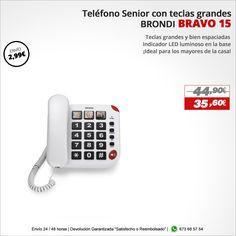¡Ideal para los mayores de la casa! Telefóno BRONDI BRAVO 15 http://www.electroactiva.com/brondi-telefono-senior-bravo-15-blanco-teclas-grandes.html #Elmejorprecio #Teléfono #Chollo #Electronica #PymesUnidas