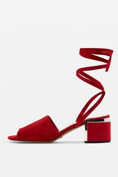 Fall 2017 Shoe Trend: Red Shoes - Topshop sandals