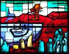 Peadar Lamb stained glass, New York Irish Repertory Theatre, 2009