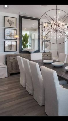 Best Dining Room Wall Decor Ideas 2018 (Modern & Contemporary Pictures) never tire of black and white Farmhouse Dining Room Decor Ideas Dining Room Wall Decor, Dining Room Design, Dining Room Mirrors, Dining Room Sideboard, Dining Room Decorating, Dining Room Furniture, Formal Dining Rooms, Farmhouse Dining Rooms, Dinning Room Light Fixture