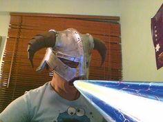 Skyrim Iron Helmet foam building tutorial - Dovahkiin by KRSprops