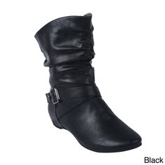 A trendy ruched detail on the shaft of these fun Blossom boots gives your step some style. With buckles and comfortable footbed, you won't have to sacrifice comfort for fashion.