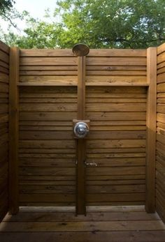 Perfect outside shower