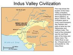 Map of cities and sites of Indus valley civilization