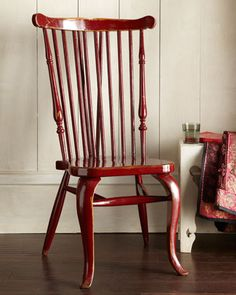 """""""Afton"""" Spindle-Back Chair at Horchow. Duxbury Comb-back w/ french legs."""