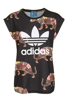 Leopard Print T-Shirt by Adidas Originals - New In Fashion - New In 64385e55c5afe