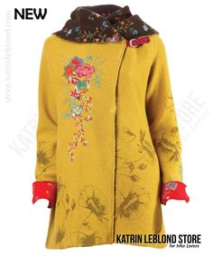 Ivko Boiled Wool Jacket with Embroidery