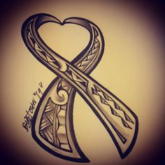 Heart and ribbon with Polynesian motifs and patterns. Up for grabs for breast cancer awareness month. 4x4 inches $120. Book your spot today. #tattoosbybigjohn #tat2sbybigjohn #teampoly #polyswag...