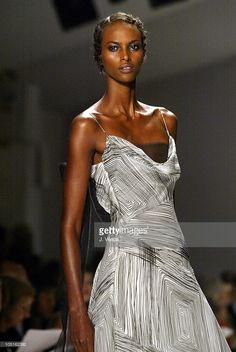 Yasmin Warsame wearing Carolina Herrera Spring 2004