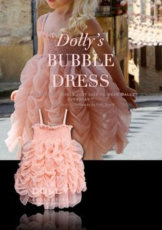 DOLLY by Le Petit Tom ® BUBBLE DRESS ballet pink