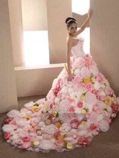 カラードレス ピンク ビスチェ 花いっぱい チャーペルトレーン ゴージャス Pclbvj0168 価格 ¥117,504