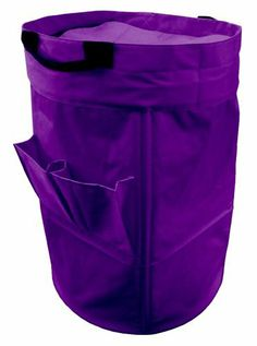 Yu Shan Standing/Collapsible Laundry Duffle Bag, Dark Purple by Yu Shan. $28.84. Two exterior pockets for detergents/accessories. Open-top with 25 Gallon Capacity. Stand-up design converts into laundry hamper. Stitched-in shoulder straps and handles for easy transport. Made of heavy duty polyester. Standing/collapsible laundry duffle bag-dark purple