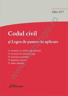 In cuprinsul lucrarii Codul civil si Legea de punere in aplicare, sub fiecare articol al codului sunt facute trimiteri la dispozitiile corespondente din Legea de punere in aplicare, precum si la legislatia conexa, incepand cu Conventia europeana a drepturilor omului, Constitutia Romaniei si celelalte acte normative interne sau internationale incidente