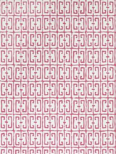 """By: Dana Gibson For: StroheimPattern: 4760705 Fret Color: PinkOrigin: United States of America100% PaperWidth: 27""""Vertical Repeat: 15.5""""Horizontal Repeat: 27"""" Price $80.00"""