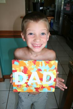 Father's Day Easy kids painting activity Kids Painting Activities, Easy Painting For Kids, Crafts For Girls, Diy For Kids, Kid Crafts, Kids Christmas, Christmas Crafts, Dad Day, Fathers Day Crafts