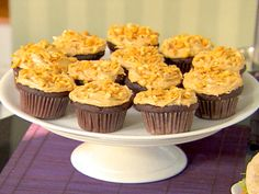 Chocolate Cupcakes and Peanut Butter Icing from FoodNetwork.com