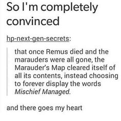 I like it, but I like the idea of Teddy getting the map when he starts Hogwarts better